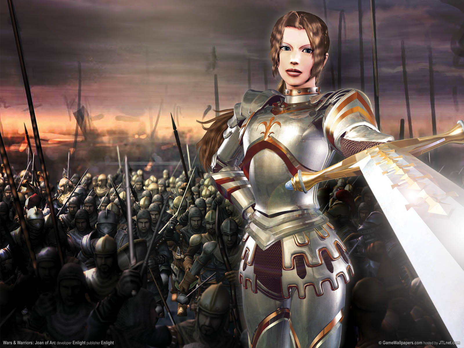 Joan of Arc de Enlight Software Wallpaper_wars_and_warriors_joan_of_arc_01_1600