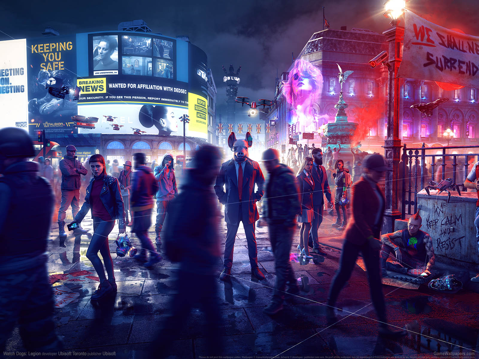 Watch Dogs: Legionνmmer=01 Hintergrundbild  1600x1200