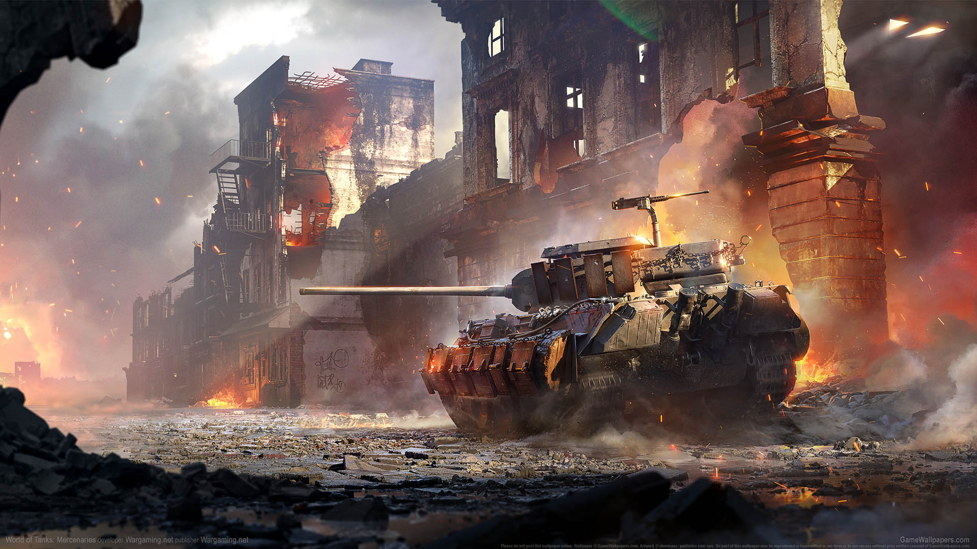World of Tanks: Mercenaries fond d'écran 01 1920x1080
