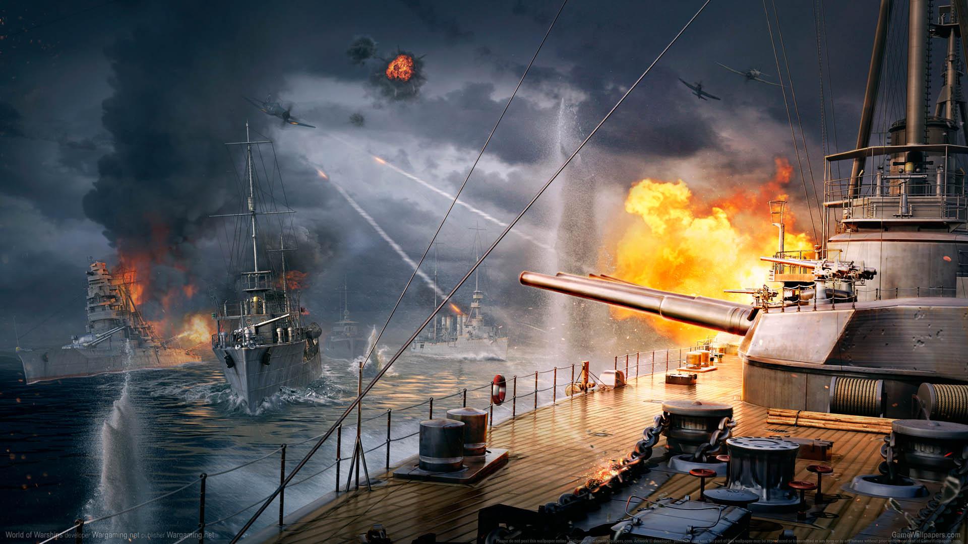 World of Warships fond d'écran 03 1920x1080