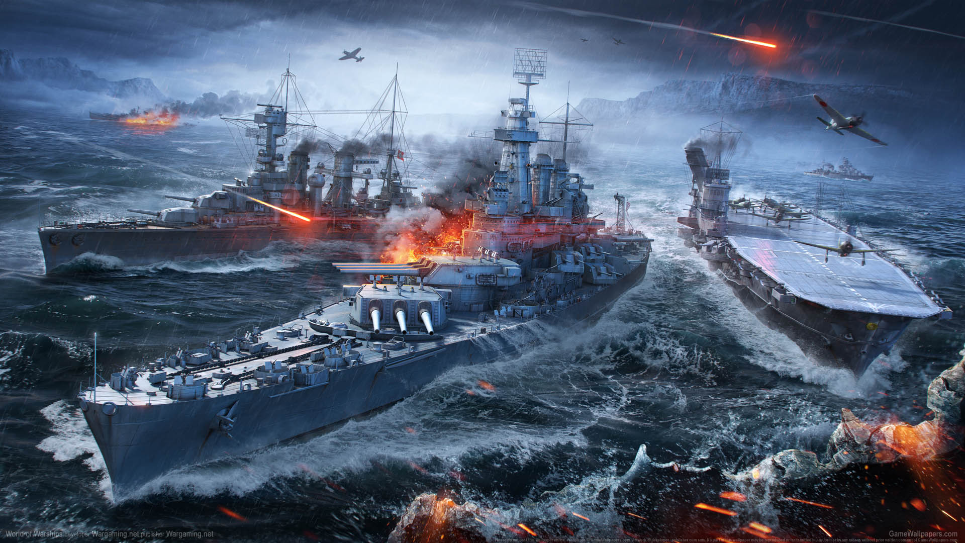 World of Warships fond d'écran 09 1920x1080