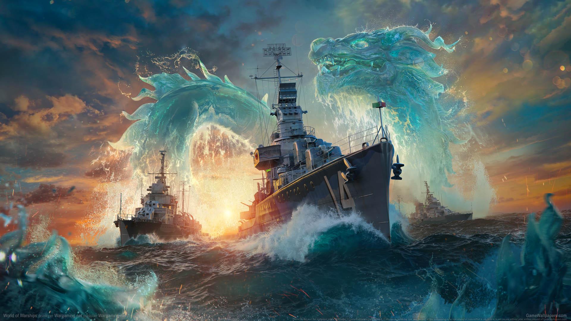World of Warships fond d'écran 17 1920x1080