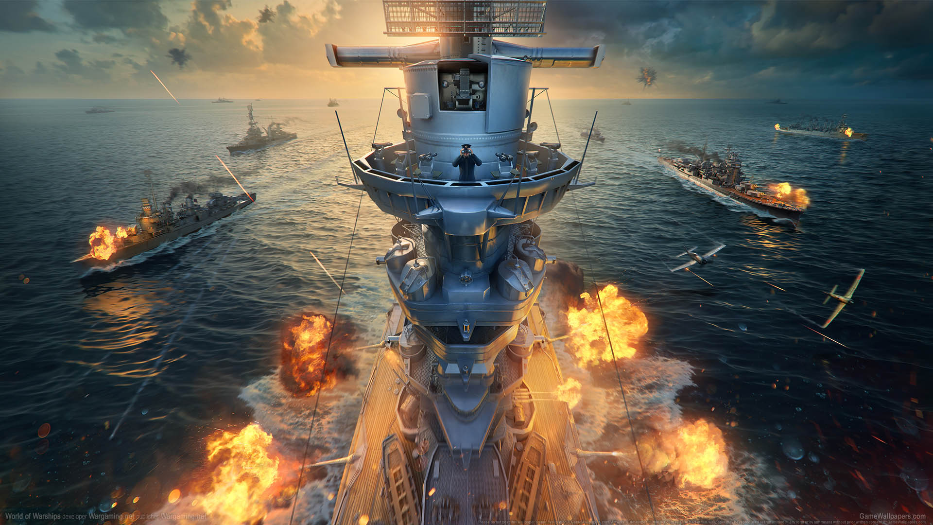 World of Warships fond d'écran 23 1920x1080